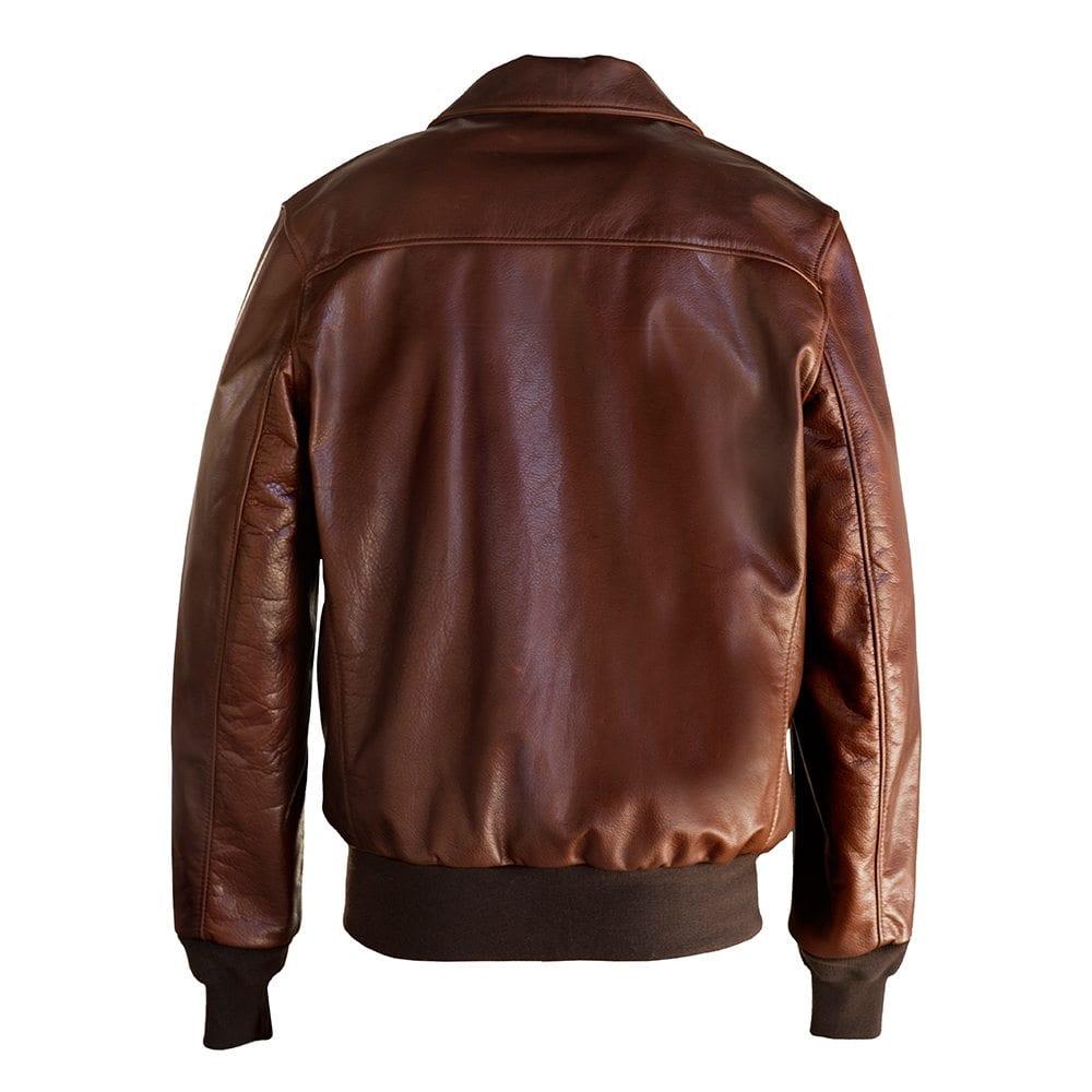 Schott brown leather jacket