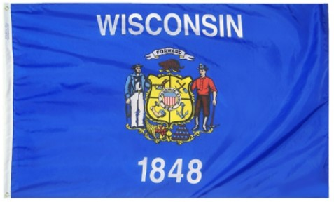 3x5 Foot Wisconsin State Nylon Outdoor Flag