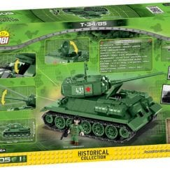 Back of COBI T-34 product box.