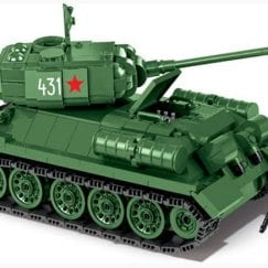 What the T-34 set looks like built.