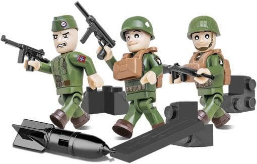 COBI 2033 American Airborne Division figuress put together