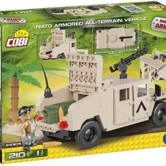 Picture of back of COBI NATO Armored All-Terrain Vehicle's box.