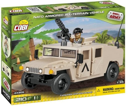 Picture of front of COBI NATO Armored All-Terrain Vehicle's box.