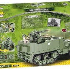 Back of COBI 2499 M16 Half Track set's box