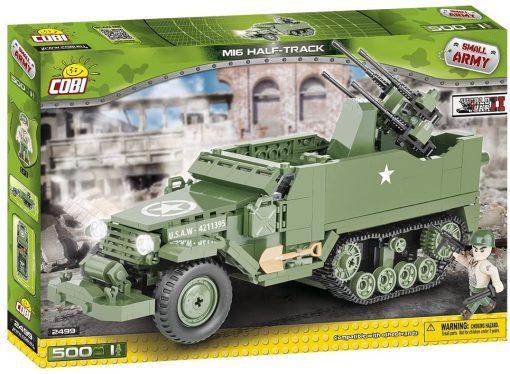 Front of COBI 2499 M16 Half Track set's box