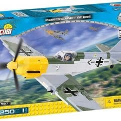 Front of COBI model 5517 Messerschmitt BF 109E's box