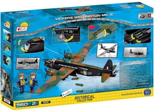 Picture of back of COBI Vickers Wellington box.