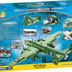 Back of COBI B-25 Mitchell's box